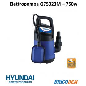 Pompa sommersa elettrica per acque chiare Hyundai Q75023M - elettropompa 750 W - 35611