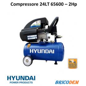 CCompressore Aria 24 lt Hyundai 65600 2 Hp Hyundai 65600 Portatile BDM24/FDL24