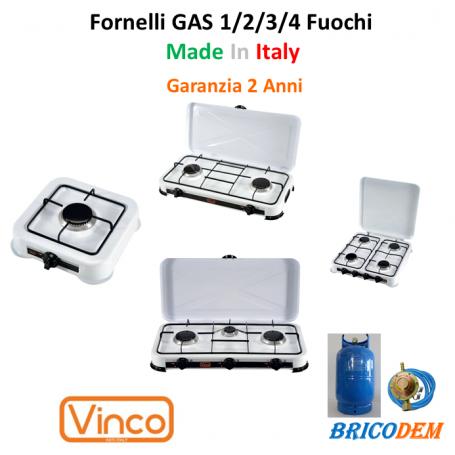 FORNELLO A GAS GPL FORNELLINO DA CAMPEGGIO CUCINA PORTATILE 3 FUOCHI