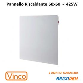 VINCO PANNELLO ELETTRICO RISCALDANTE ULTRA SOTTILE SLIM BIANCO 60X60 VERNICIABILE 70401