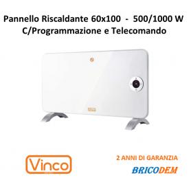 PANNELLO RISCALDANTE DA PARETE E DA APPOGGIO PITTURABILE 1000W  VINCO 70402