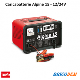 Caricabatterie Telwin Alpine 15 - batterie WET/START-STOP con tensione 12/24V