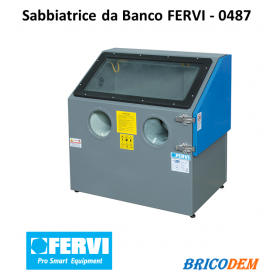 SABBIATRICE DA BANCO CABINA SABBIATURA FERVI 0487 PORTATILE + ACCESSORI