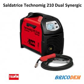 SALDATRICE FILO INVERTER TELWIN TECHNOMIG 210 DUAL SYNERGIC 230V cod. 816052