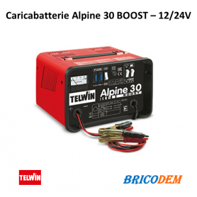 Caricabatterie Telwin Alpine 30 Boost - batterie WET/START-STOP con tensione 12/24V