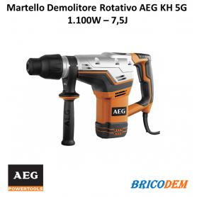 MARTELLO DEMOLITORE ROTATIVO  combo AEG KH 5 G SDS MAX 1100W 7,5J