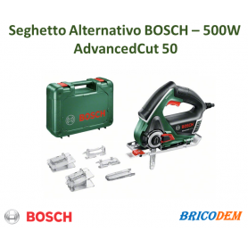 Bosch Home and Garden AdvancedCut 50 Seghetto alternativo incl. valigia 500 W