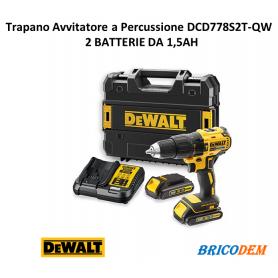 DeWALT DCD778S2T trapano avvitatore 18V percussione BRUSHLESS 2 batterie 1,5 Ah
