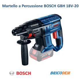 Martello perforatore a percussione Bosch GBH 18V-20 a batteria SDS Plus