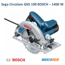 Bosch GKS 190 Professional Sega Circolare 1400W Blu 0601623000