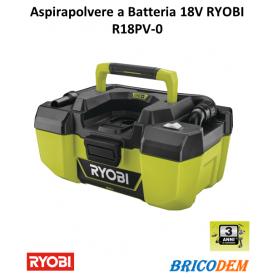 Aspirapolvere industriale Ryobi ONE+ R18PV-0
