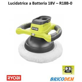 Lucidatrice manuale a batteria Ryobi R18B-0 per carrozzeria auto, moto barche