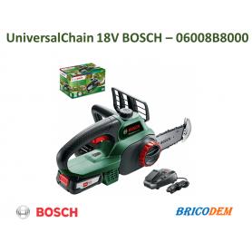 Bosch UniversalChain 18 Motosega Elettrica senza Fili, con Batteria, 18 V