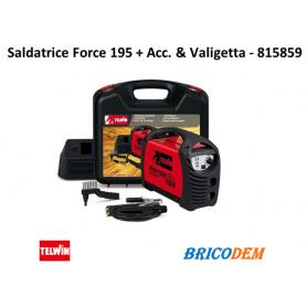 Saldatrice Inverter Telwin Force 195 + Acc. e Valigetta - 815859